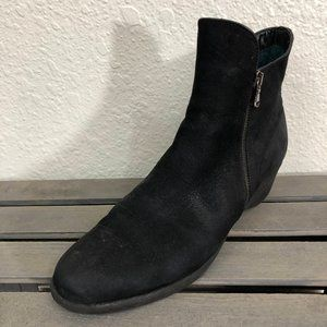 The Flexx Ankle Boots Sz 10 Black Leather Wedge